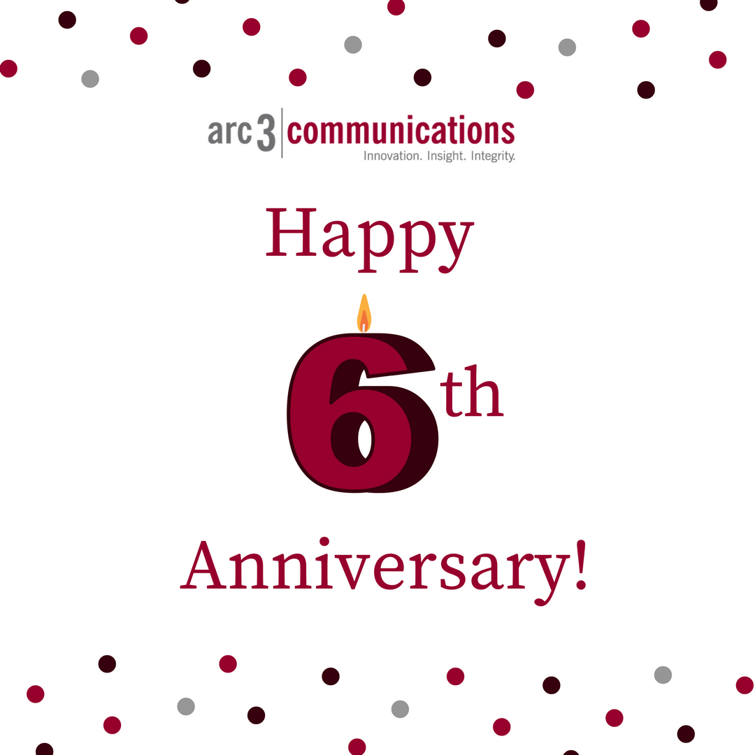 happy anniversary arc 3 communications arc 3 communications